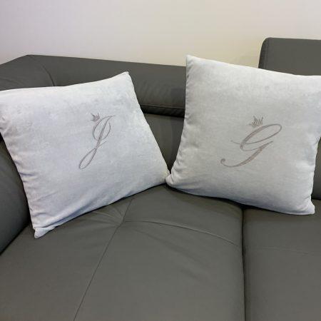 siuvinėtos pagalvėlės