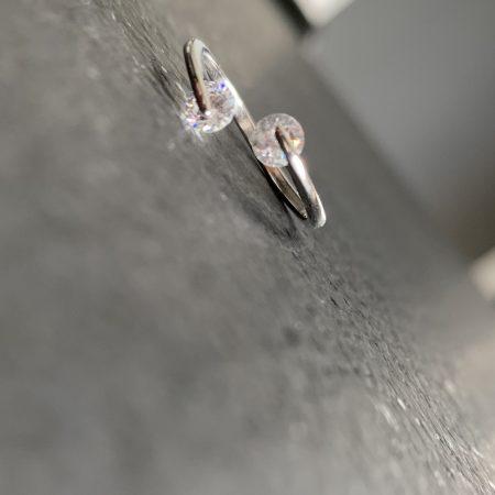 smulkus sidabrinis žiedas