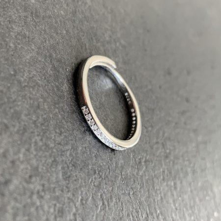 plonas sidabrinis žiedas